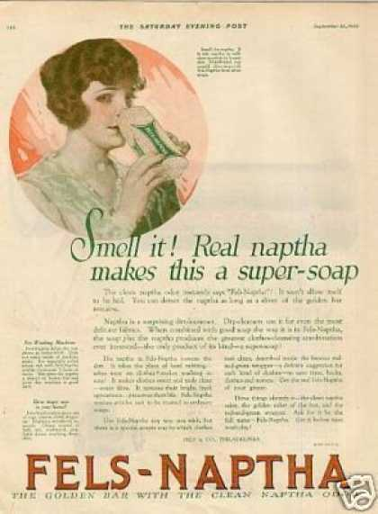 "Fels-naptha Soap Ad ""Smell It... (1920)"