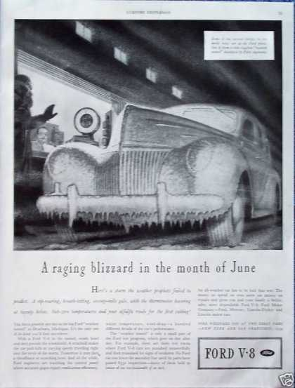Ford V8 Blizzard Weather Tunnel Car Frozen Over (1939)