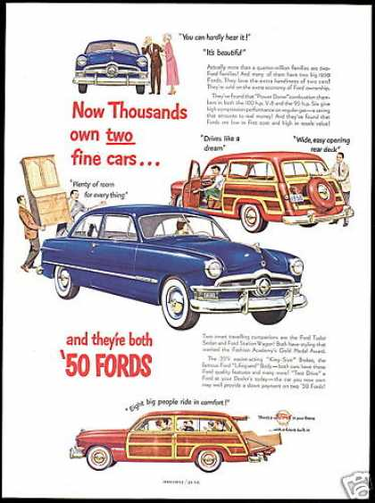 Ford Tudor Sedan Station Woody Wagon Car (1950)