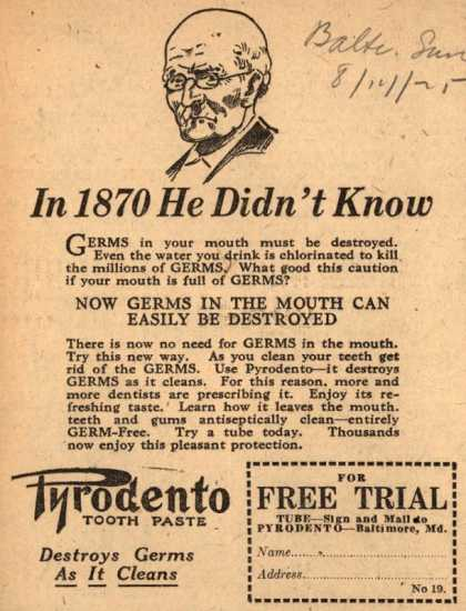 Pyrodento – In 1870 He Didn't Know (1925)