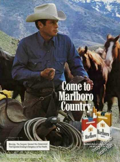 Marlboro Cowboy Blue Shirt/blue Mountain (1983)