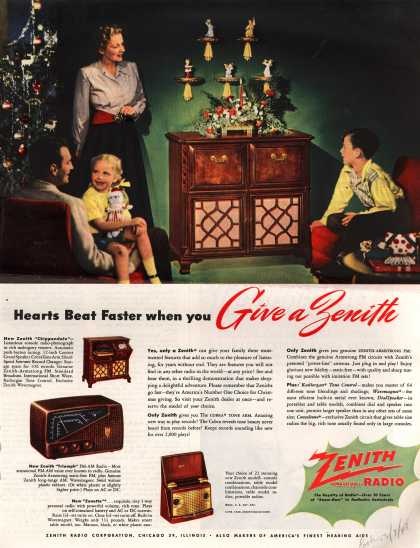 Zenith Radio Corporation's Various – Hearts Beat Faster when you Give a Zenith (1948)
