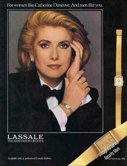 Catherine Deneuve Photo Lassale Wristwatches (1986)