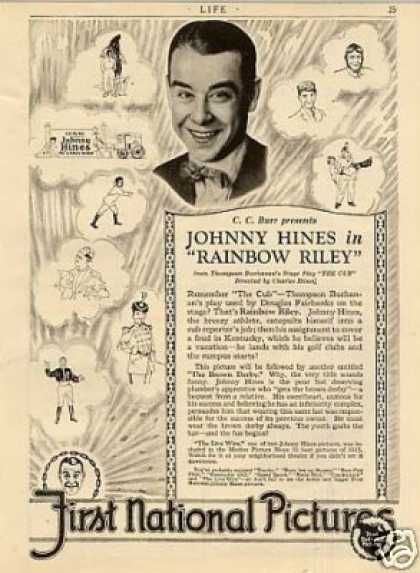 "First National Pictures Ad ""Rainbow Riley"" (1926)"