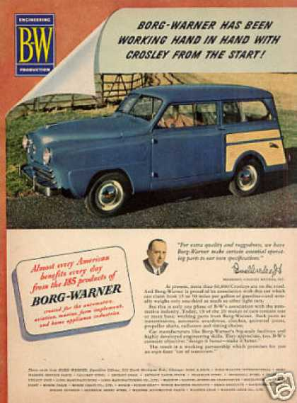 Borg-warner Ad Crosley Car (1949)