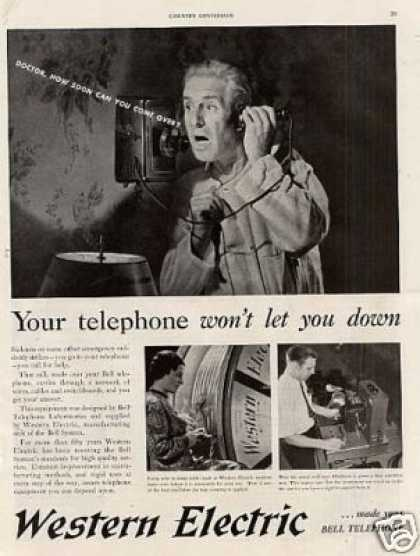 "Western Electric Ad ""Your Telephone Won't... (1938)"