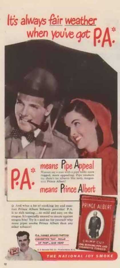 Prince Albert Cigarette Tobacco – Fair Weather (1947)