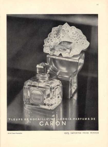 Caron Fleurs Rocaille Bellodgia Perfume (1947)