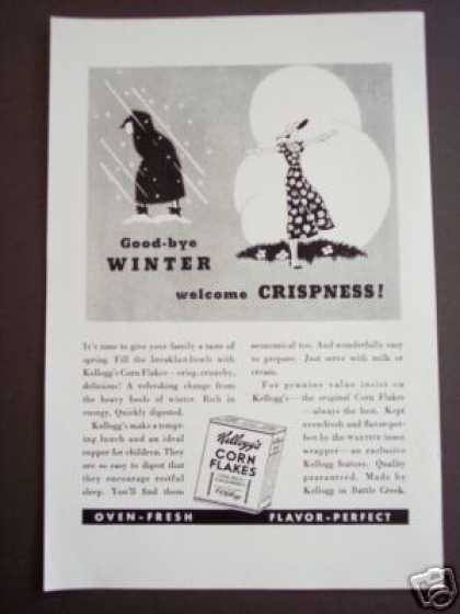 Kellogg's Corn Flakes Good-bye Winter Art (1935)