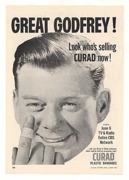 Arthur Godfrey Photo Curad Bandages (1955)