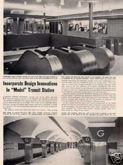 """Innovations In Model Transit Station"" Article/h&m (1950)"