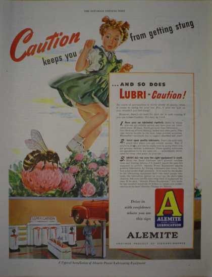 Alemite Oil Lubrication Product of Stewart Warner (1946)