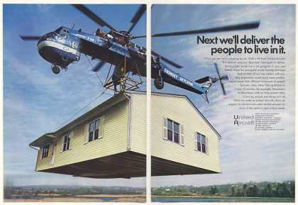 Sikorsky Skycrane Helicopter Carries House 2-Pg (1971)