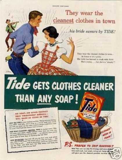 "Tide Soap Detergent Ad ""They Wear the Cleanest... (1951)"