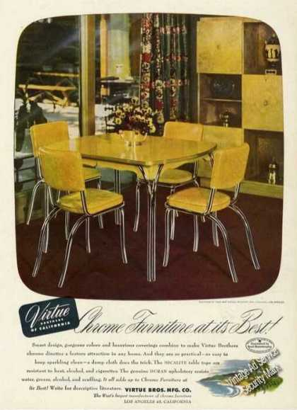 Virtue Brothers Chrome Furniture Rare (1949)