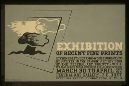 Exhibition of recent fine prints – Etchings, lithographs, wood engravings by artists in the Graphic Art Division of the Federal Art Project, WPA - (1936)