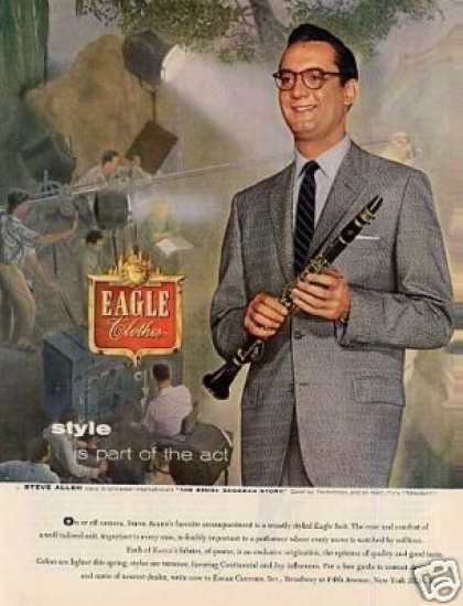 Eagle Clothes Ad Steve Allen (1956)