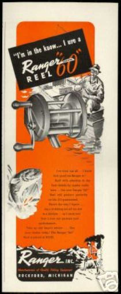 Ranger Inc Co Fishing Reel Fisherman (1947)