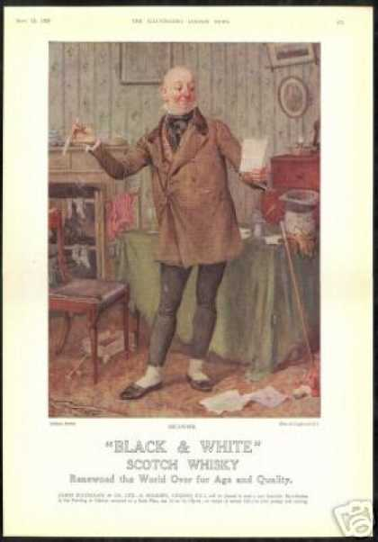 Charles Dickens Micawber Art B&W Scotch UK (1928)