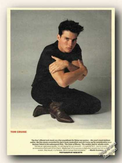 Tom Cruise Magazine Picture Print Feature (1986)
