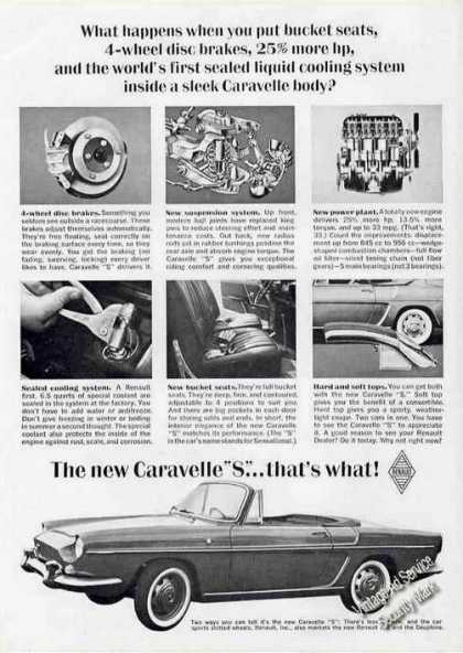"Renault Caravelle ""S"" Photo Nice Car (1963)"
