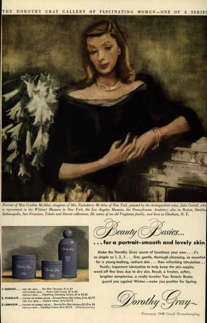 Dorothy Gray – Beauty Basics...for a portrait-smooth and lovely skin (1948)