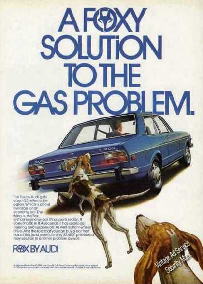 "Audi Fox Art ""A Foxy Solution To Gas Problem"" (1974)"