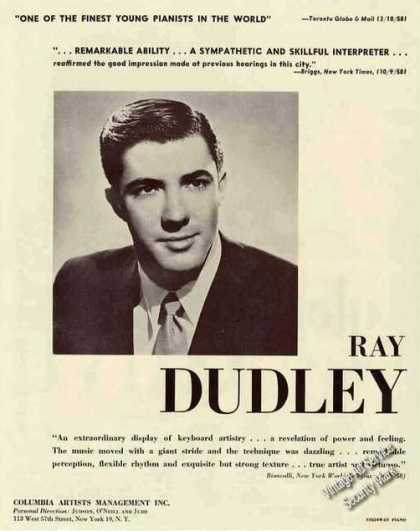 Ray Dudley Photo Pianist Booking (1959)