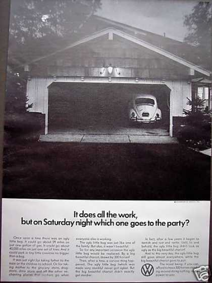 Lonely Vw Volkswagen Bug Beetle Car (1966)