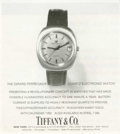 Tiffany & Co Girard Perregaux Watch (1972)