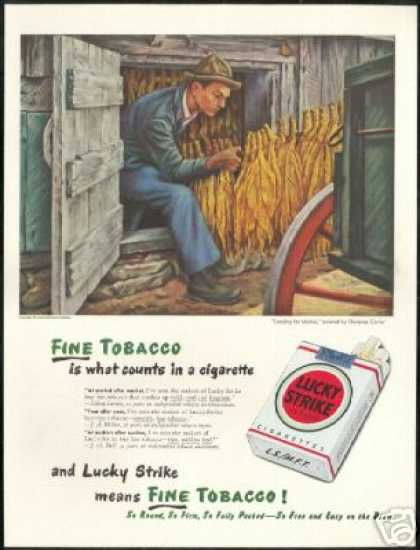 Clarence Carter Art Lucky Strike Cigarette (1947)