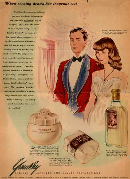 Yardley of London's English Lavender and Beauty Preparations – When Evening Draws Her Fragrant Veil (1941)