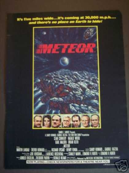 Meteor W Sean Conery Natalie Wood Movie Promo (1979)