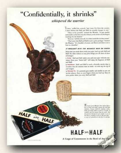 Half and Half Pipe Tobacco Antique Color (1941)