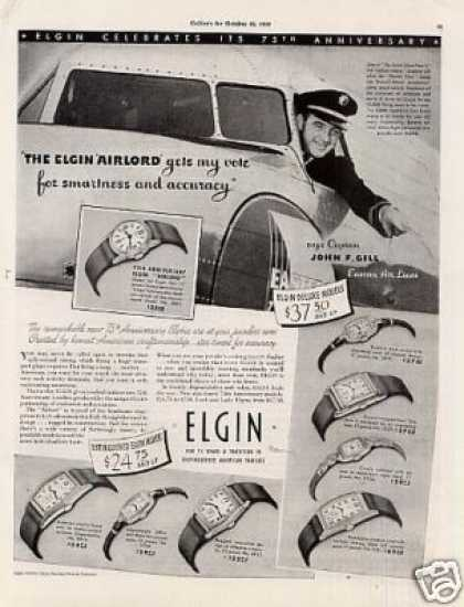"Elgin Watches Ad ""The Elgin Airlord... (1939)"