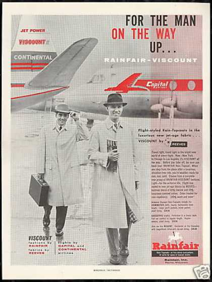 Capital Continental Airlines Rainfair Fashion (1958)