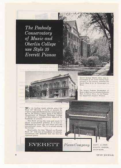 Oberlin College Peabody Conserv Everett Piano (1958)