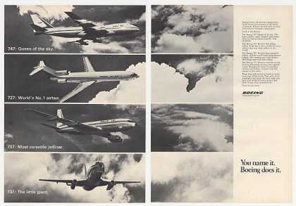 Boeing 747 727 707 737 Photo 2-Page (1973)