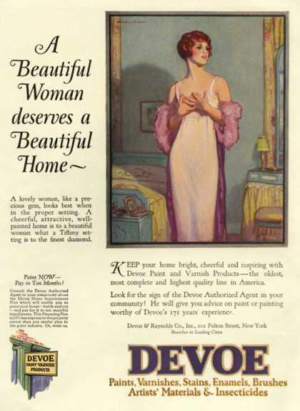 Devoe varnish, USA (1920)