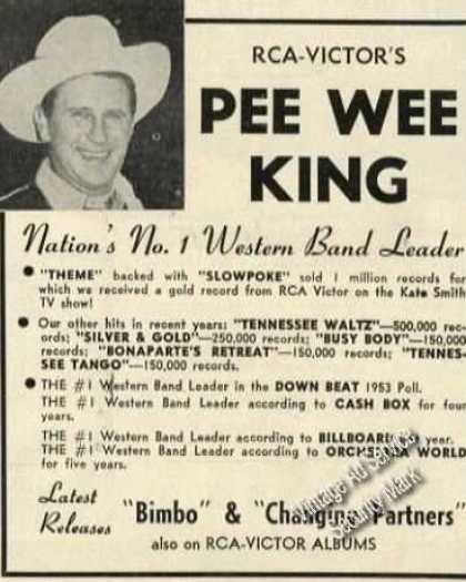 Pee Wee King Photo Rare Album Promo (1954)