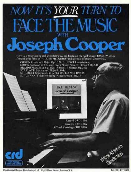 Joseph Cooper Photo Piano Uk Music (1976)