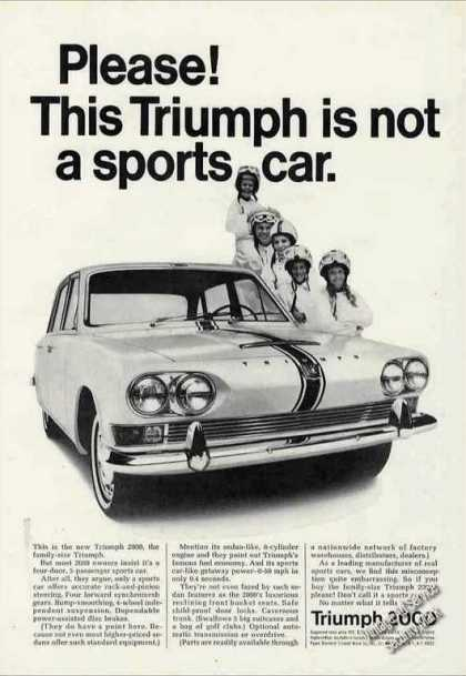 This Triumph Is Not a Sports Car 2000 (1966)