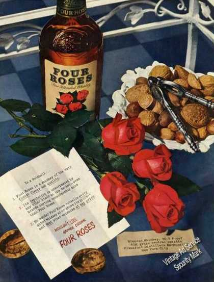Four Roses Whiskey Large Bottle (1950)