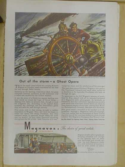 Magnavox Radio. Out of the storm a ghost opera (1941)