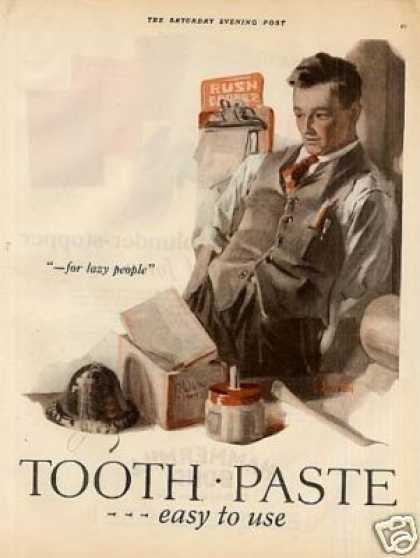 Listerine Toothpaste Color Ad 2 Page (1926)