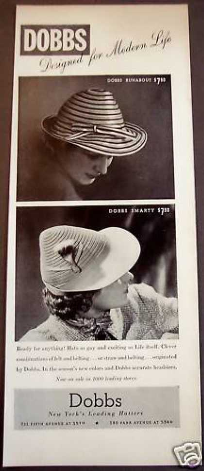Dobbs Runabout and Smarty Ladies Hats (1939)