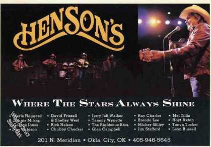 "Henson's Okla. City Ok ""Stars Always Shine"" (1982)"