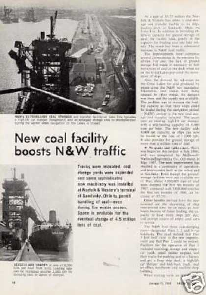"""New Coal Facility..."" Article/n&w-san (1968)"