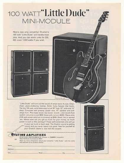 '69 Ovation Little Dude Amp Thunderhead Guitar (1969)