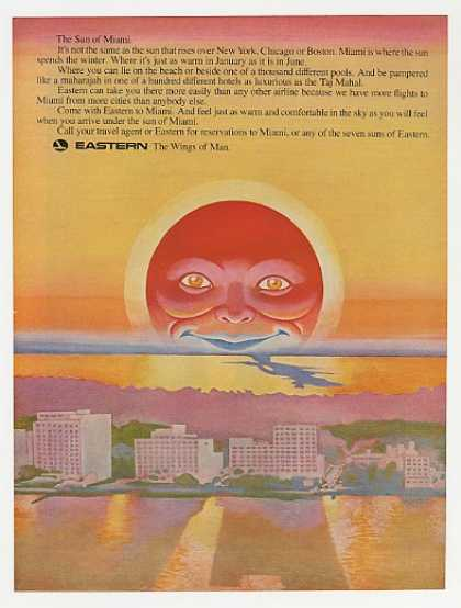Eastern Airlines Sun of Miami Color art (1969)